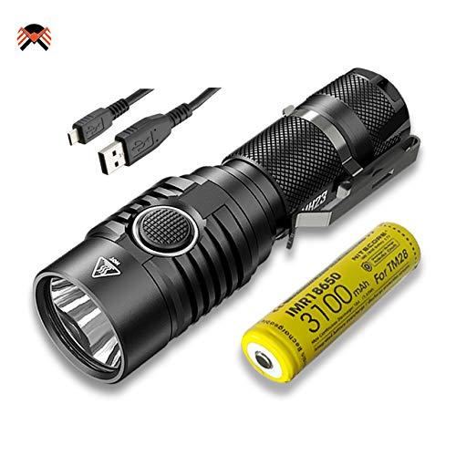 Nitecore MH23 Taschenlampe Superhelle 1800 Lumen IPX8 Wasserdicht Micro-USB Aufladbar 8 Leuchtungsmodi