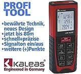 Kaleas Profi-Laser-Entfernungsmesser LDM 500-80+ für Entfernung bis 80m Genauigkeit 1.5mm (34058)