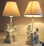2er-Set Nachttischlampen mit Engeln 38cm 2083