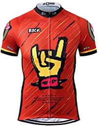 Thriller Rider Sports® Hombre Rock Music Red Thriller Rider Sports® Hombre  Deportes y Aire Libre Maillot Manga… 3156f342be8