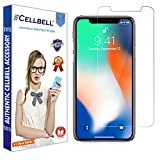 CELLBELL Tempered Glass Screen Protector For Apple iPhone X With Installation Kit