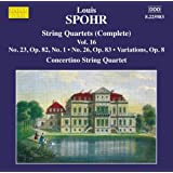 Spohr: String Quartets Vol. 16 [Concertino String Quartet] [Marco Polo: 8225983]
