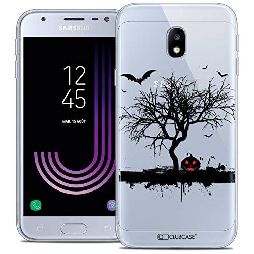 Caseink Hüllle für Samsung Galaxy J3 2017 J320 (5 Handyhülle Back case [Crystal Gel HD Sammlung Halloween Design Devil s Tree - Flexibel - Ultra Fin - Auf Wunsch frisch in Frankreich gedruckt]