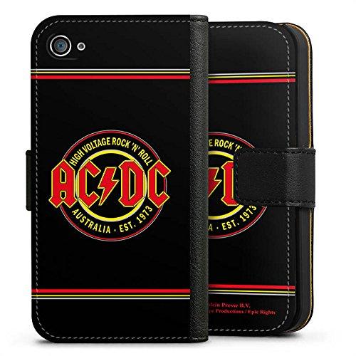 Apple iPhone 6 Silikon Hülle Case Schutzhülle ACDC High Voltage Merchandise Sideflip Tasche schwarz