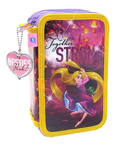 Disney Princesas Estuche de 3 Pisos con Glitter (CIFE 40237)