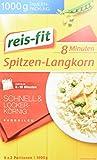 reis-fit 8 Minuten Spitzen-Langkorn Reis im Kochbeutel, 14er Pack (14 x 1 kg)