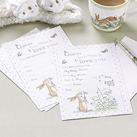 'Guess How Much I love You' Invitations and Envelopes. Perfect for Baby Shower, Christening, Baby (Baby Shower Inviti Libri)