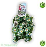 W01171010 Fahrradgirlande Blumengirlande Sonnenblume Blau/Weiß 120 cm