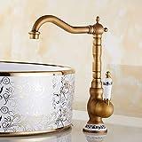 Traditionnel Mitigeur Évier Bec Pivotant à 360°avec bec haut de lavabo bain...