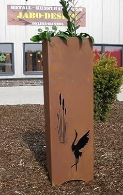 XXL Rost Säule RS89 kostenloser Versand Gartensäulen mit integrierter Schale Blumensäule Deko Rostsäulen Rostsäule von Jabo-Design - Du und dein Garten