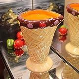 zhqingyu Tazza in Ceramica Dipinta Coppa Moda Coppia Coppa Dessert Grande capacità Coppa Gelato Coppa Creativa Bevanda Fredda 301mL-400mL