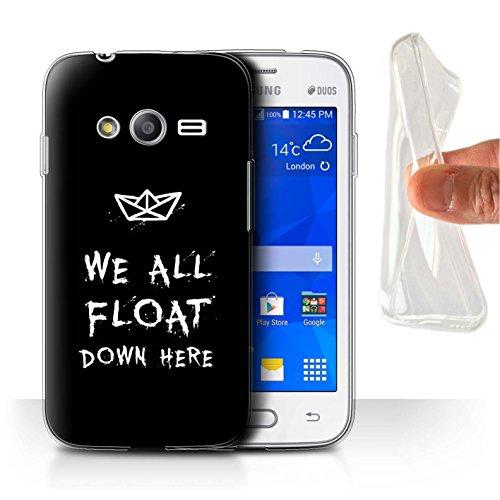 Stuff4® Gel TPU Hülle/Case für Samsung Galaxy Trend Neo/G313 / Wir Alle Schwimmen Hier Runter Muster/Horrorfilm Inspiriert Kollektion