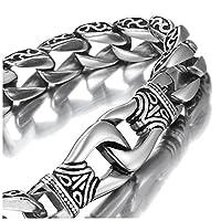 Verbessern Sie Ihren persönlichen Stil mit diesem einzigartigen Urbanen Schmuck Herren Armband aus Edelstahl. Das Kettenglieder Design dieses hochglanzpolierten Armbands wird eine elegantere und maskulinere Aussage machen sowohl mit Ihrer lässigen al...