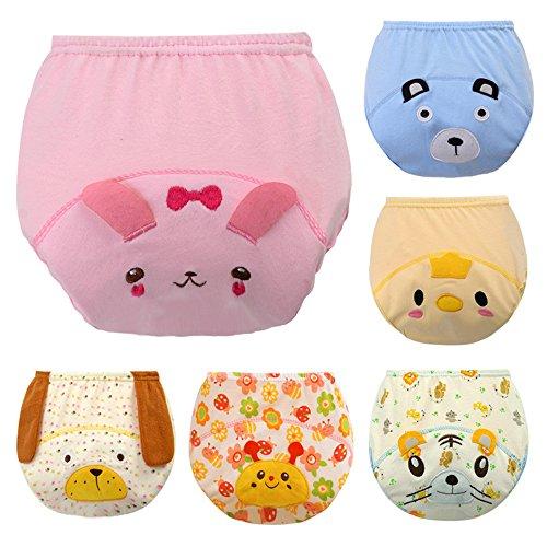 ElecMotive ElecMotive 6 Stück Baby Kinder Unterwäsche Unterhosen Trainerhosen Töpfchentraining (100)