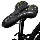 Sattel für Fahrräder, Gel Comfort Kissen Mountain Bikes Sitz für Frauen Herren Kinder Damen Road Fahrräder, Kinder Herren damen, grün