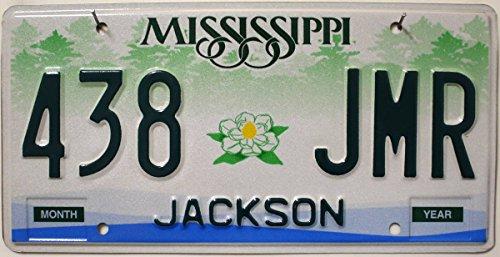 USA Nummernschild MISSISSIPPI ~ US Kennzeichen Blumen Motiv ~ Blechschild