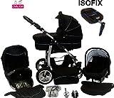 Chilly Kids Dino Kinderwagen Safety-Winter-Set (Winterfußsack, Autositz & ISOFIX Basis,...