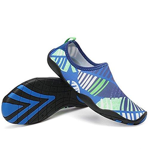 FLARUT Neutre Chaussons de sport aquatique,de plage et d'eau pour Enfant Adulte Bleu