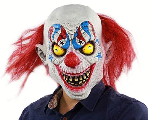 Latex-Maske Für Halloween, Clown-Maske, Horror-Zirkus-Clown-Maske, Prank-Maske Face Scary Halloween-Kostüm Party, Bar-Requisiten, ()
