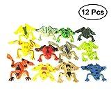 TOYMYTOY 12pcs plastica mini rane giocattolo simulazione rana tropicale figura modello bambini in età prescolare giocattoli educativi