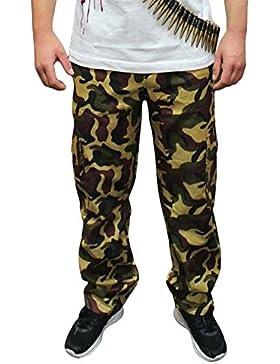 Islander Fashions Adult Pantalones de Camuflaje elsticos Unisex Fancy Sports Gym Wear Pantalones Impresos S/XL
