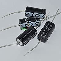 Cary 5pcs 500v 22uf 105c Long Copper Leads Axial Electrolytic Capacitor Audio Amps