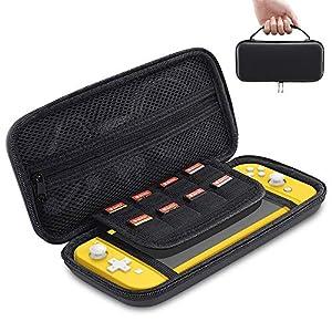 ESR Tasche kompatibel mit Nintendo Switch Lite – Harte tragbare Schutz Hülle mit vielen Fächern für Nintendo Switch Lite Spiele & Zubehör – Schwarz