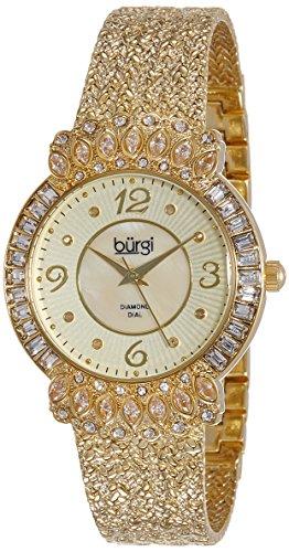 Burgi BUR120YG Montre dorée pour femme