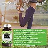 Integratore MSM (metilsulfonilmetano)   Senza glutine, vegano   Vitamina C   180 capsule   Focus Supplements   VELOCIZZA IL RECUPERO MUSCOLARE   Supporto antiossidante e per le articolazioni