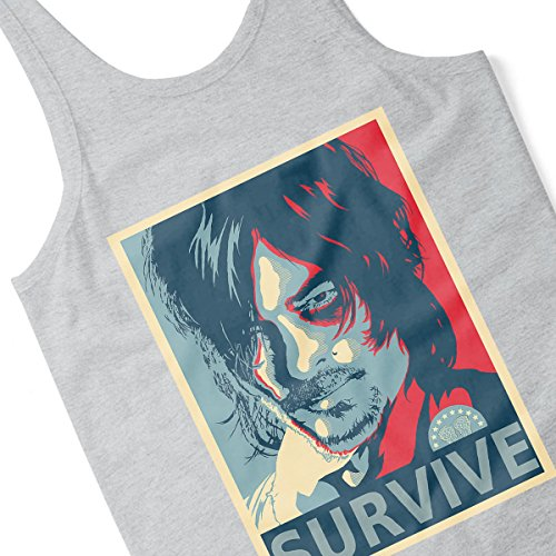 Walking Dead Daryl Dixon Hes No Ones Bitch Men's Vest Heather Grey