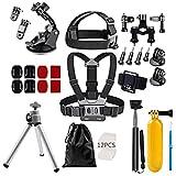 MagiDeal Universal 46 in 1 Action Kamera Zubehör Kit für GoPro Hero SJCAM Akaso Oder Andere Sportkameras, Geeignet für Reisen Outdoor Sport Biken Fahren