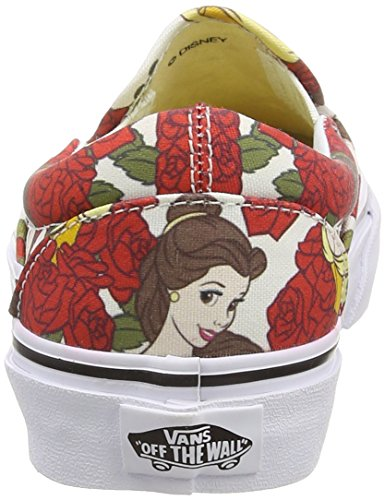 Vans Classic Slip-On, Sneaker Unisex - Adulto Bianco (Disney - Belle/True White)