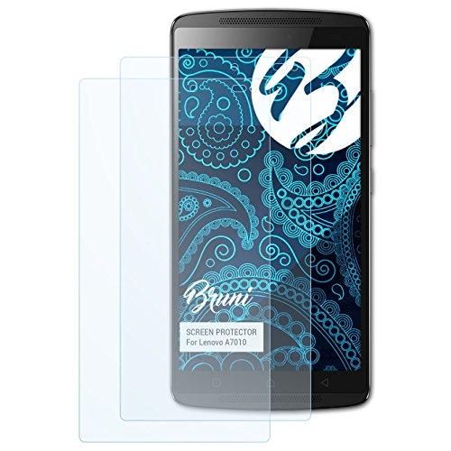 Bruni Schutzfolie für Lenovo A7010 Folie, glasklare Bildschirmschutzfolie (2X)