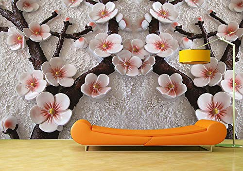 BZDHWWH Benutzerdefinierte Tapeten Wandbilder Chinese Plum Blossom Wandaufkleber Poster Wand Papier Kunst Wandmalerei Wohnzimmer,312Cm (W) X 219Cm (H) -