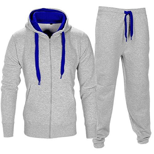 Herren Essentials Contrast Trainingsanzug Fleece Kapuzenpullis Jogginghose Jogginghose Gym Set