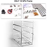 19 GPU Mining Rig Case Aluminum Stackable Open Air Frame Miner Case For ETH/ETC/ZCash/Cryptocurrency (Silver Case,No Fans)