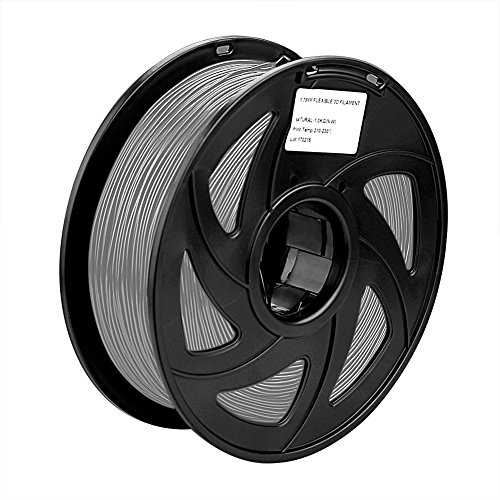 SIENOC 1 Packung 3D Drucker PLA 1.75mm Printer Filament - Mit Spule 1kg (Grau)