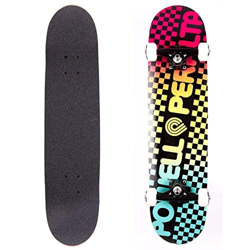 powell-peralta Checker Colby verblasst komplett Skateboard, Blau -