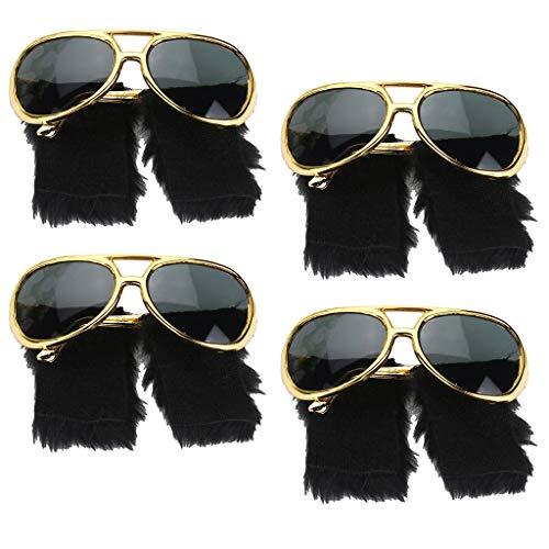 Sharprepublic 4 Piezas Gafas De Sol Divertidas Barba