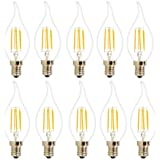 10X E14 Ampoule de Filament COB 4W Ampoule Vintage LED C35 Ampoule à Incandescence Blanc Chaud 400LM Super Lumineux LED Edison Retro AC 220V