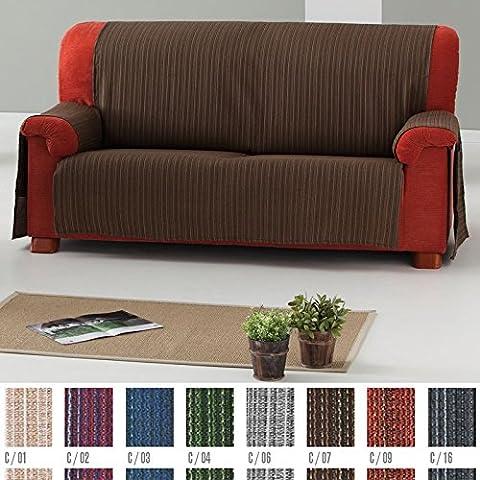 Funda Cubre Sofá Práctica Modelo Erika, Color MORADO (C/02), para 4 Plazas