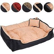 Leopet Dog Bed 120/90/30 cm Soft Pet Cushion Pillow (Beige)