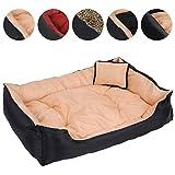 Leopet - Panier lit pour chien avec coussin - Beige - 120 x 90 x 30 cm - DIVERSES COULEURS AU CHOIX