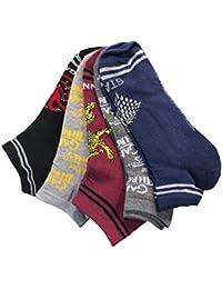 Calcetines para Hombre de Juego de Tronos, Paquete de 5 Pares, Pattern 1,