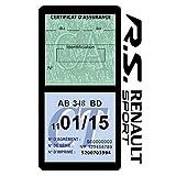 Générique Étui Double Assurance Compatible avec R.S Renault Sport Noir Porte Vignette adhésif Voiture Stickers Auto Retro