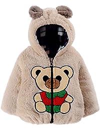 Barboteuse À Capuche,HYMax La Fille De Style D'hiver épaissir Veste à Capuchon Joli Petit Ourson
