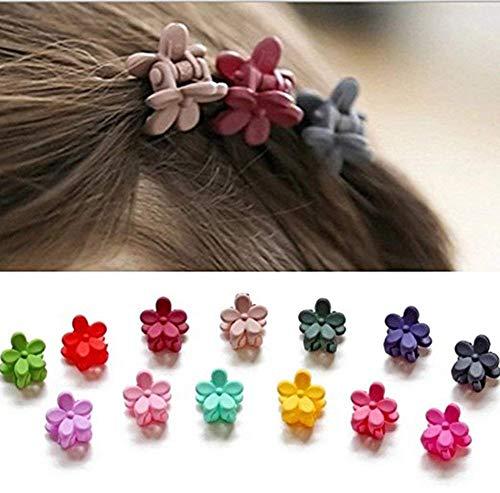 40 stk Haarkrallen Mini mehrfarbig Haarspange für Kinder Mädchen Baby Haarband mit Blumen Deko