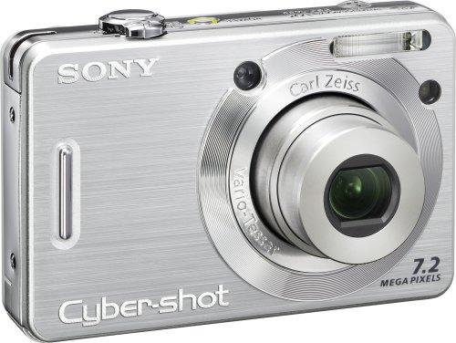 Sony Cybershot DSCW55 7.2MP Digital Camera with 3X Optical Zoom (Silver) (Old Model)