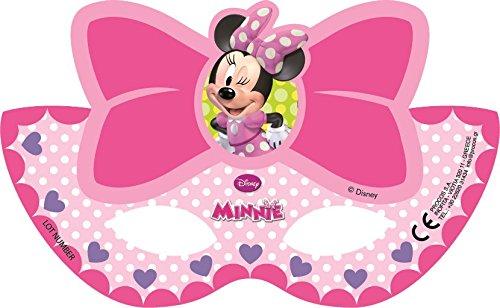 Gabbiano 27584, pack 6 Masken für Party Disney Minnie Mouse