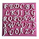 Karen Baking 26 englische Buchstaben Form 3D Silikon Backform für Kuchen-Fondant Dekorieren